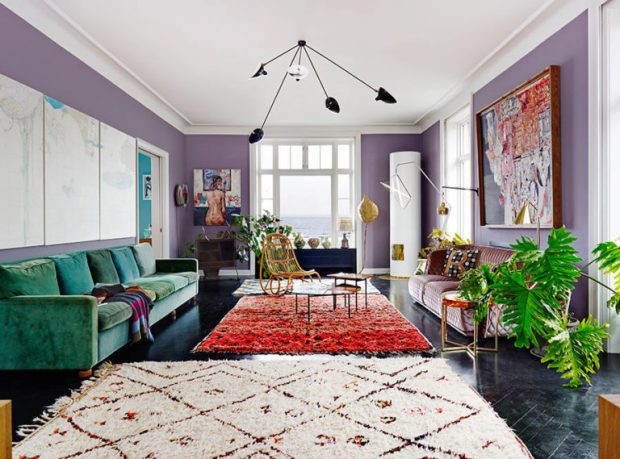 a-mad-mix-of-colors-and-texture-in-an-eclectic-living-room-colorful-house-tour-on-coco-kelley-768x569