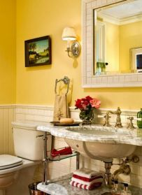 Classy-bathroom-ideas-with-cool-yellow-tones